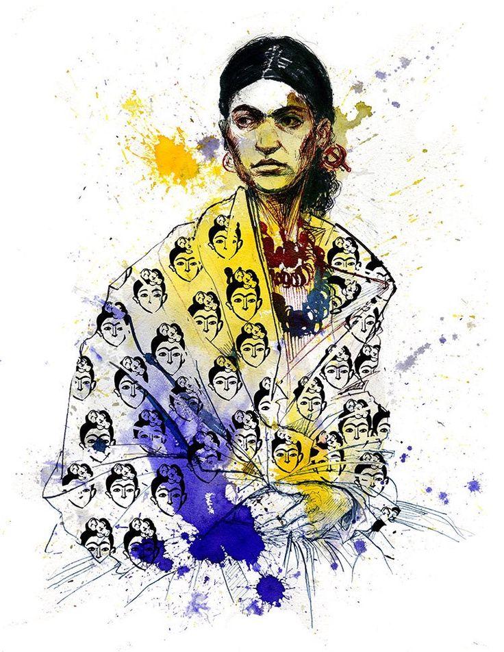 Molly Crabapple , portrait of Kahlo