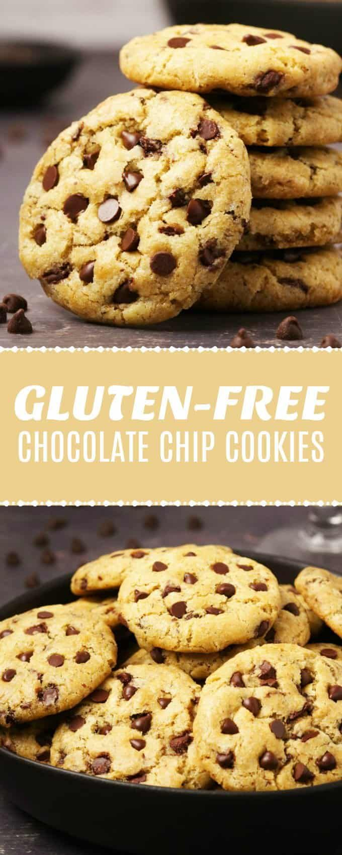 These Vegan Gluten Free Chocolate Chip Cookies Are So Good No One Will Ever Guess The Gluten Free Chocolate Chip Cookies Vegan Cookies Vegan Christmas Desserts