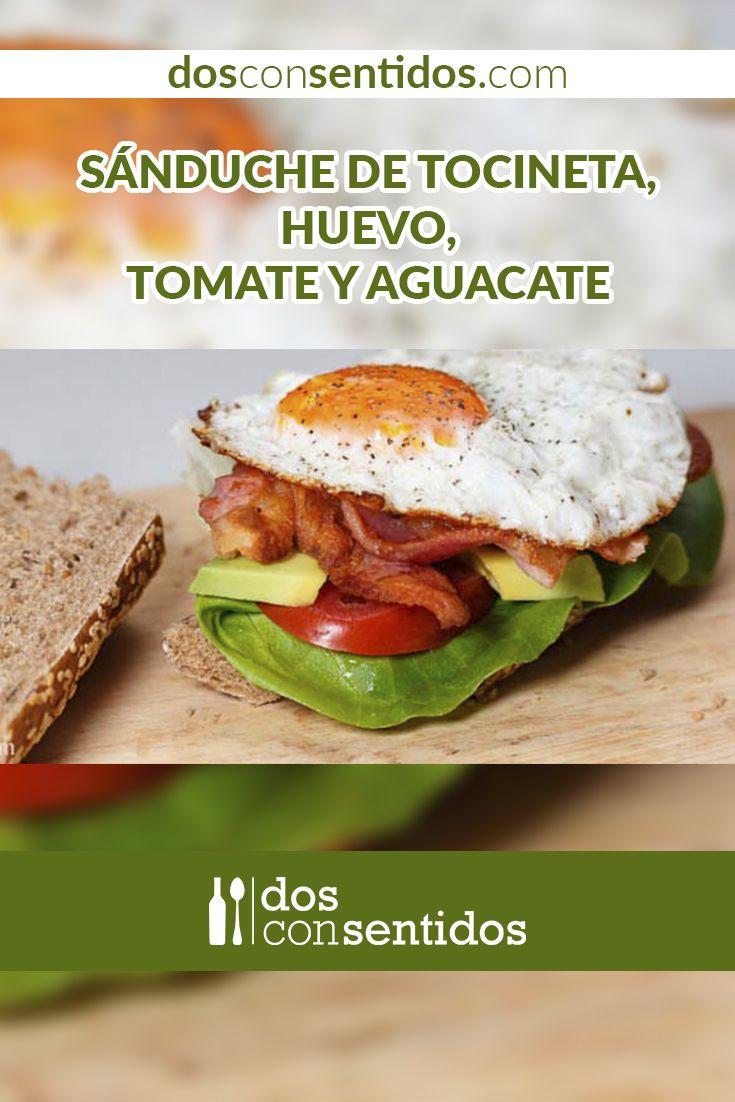 Este sánduche es un derivado del conocido BLT (bacon, lettuce, tomato), en español tocineta, lechuga y tomate, pero con una deliciosa adición de huevo frito y aguacate, ideal para mañanas de guayabo. El primer registro de la receta de BLT fue hecho por Florence A. Cowles, en 1929, que tiene en su libro varias recetas a base de tocino y ensalada. En esta receta usamos pan baguette integral, pero puedes usar tu pan favorito.