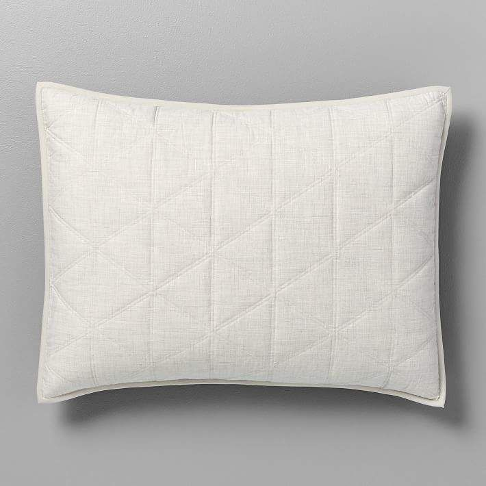 Heathered Cotton Sateen Quilt Amp Shams Quilted Sham