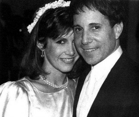Carrie Fisher and then husband singer, Paul Simon