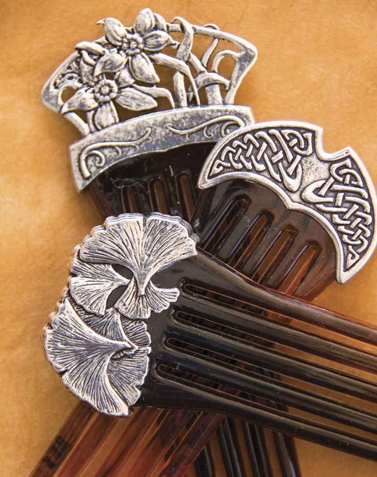 Our stick and comb barrettes are for those with thicker hair or upswept…