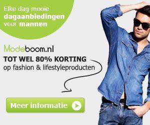 Modeboom.nl is een dagaanbieding webshop gericht op heren. Dagelijks biedt Modeboom twee producten aan met hoge kortingen. Het assortiment bestaat onder andere uit kleding, parfum en mode accessoires.