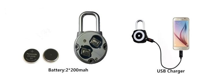New Arrival Blue Manual And Automatic Bluetooth Smart Window Lock Luggage Lock Bicycle Lock Stainless Steel Padlock - Smart Bluetooth locks - QHL