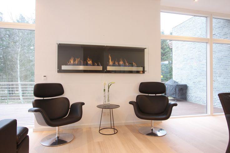 contemporary interior design- decoflame® Atlantic Twin