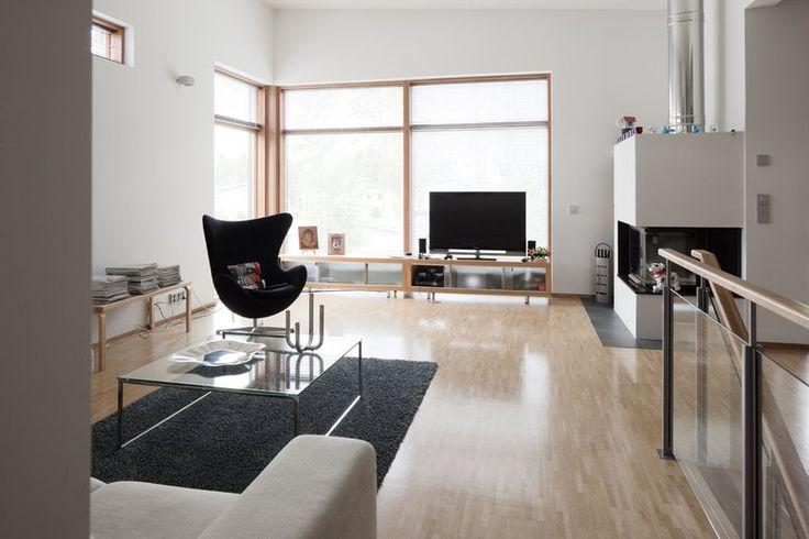 Ajattoman tyylikäs kivitalon olohuone, lisää ideoita www.lammi-kivitalot.fi