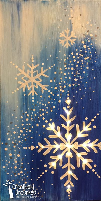 Snowflake with Lights | Creatively Uncorked | http://creativelyuncorked.com | Creatively Uncorked | http://creativelyuncorked.com
