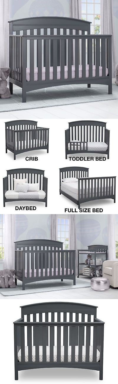 Cribs 2985: New Delta Children Bennington Elite Arch 4-In-1 Convertible Crib - Charcoal Grey -> BUY IT NOW ONLY: $149.98 on eBay!