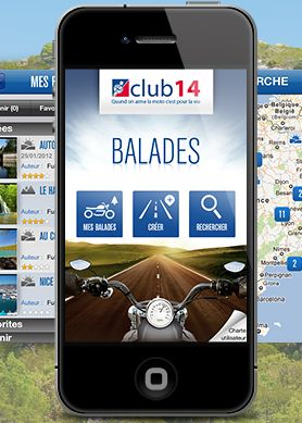 1ère application communautaire de balades moto
