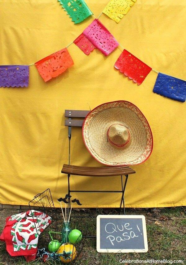 Un photocall para una fiesta mexicana! / A photocall for a mexican party!