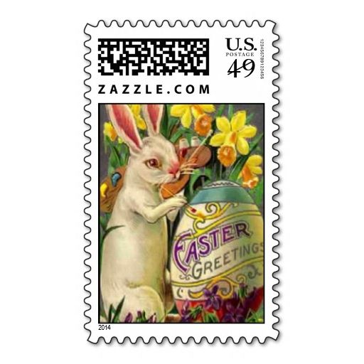 301 best easter postage stamps images on pinterest postage stamps easter bunny painting egg postage stamps this is customizable to put a personal touch on negle Images