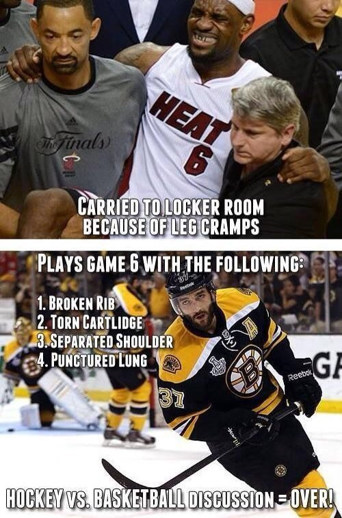 Hockey Vs Basketball... Hockey Wins