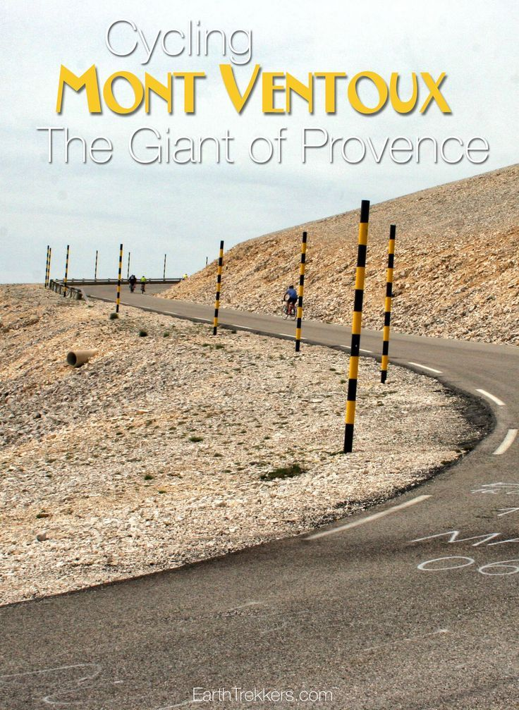 Cycling Mont Ventoux in Provence, France.