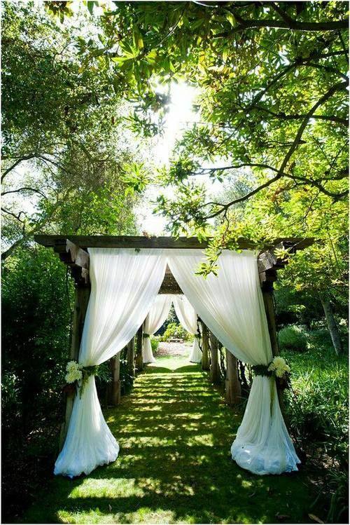 Beautiful garden wedding isle