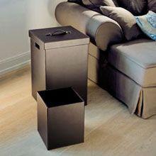 Decor Walther Brownie QB Wäschebehälter mit Deckel und Papierkorb Set  deddd