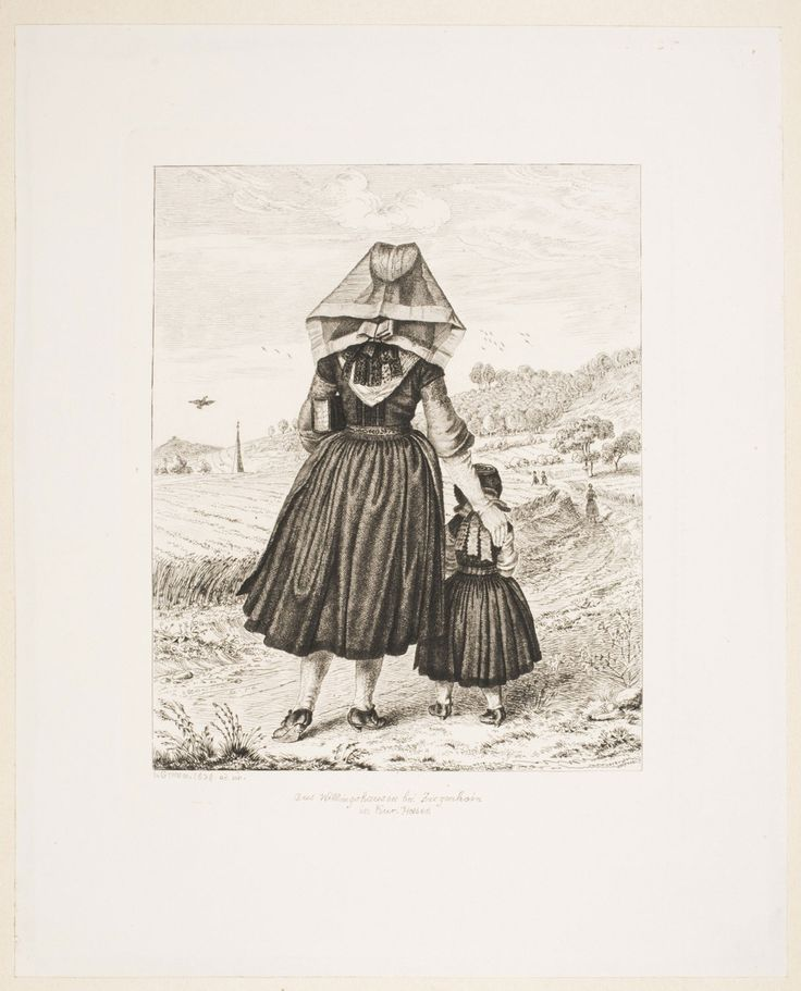 Philadelphia Museum of Art - Collections Object : Peasant Woman and Little Girl from the Village of Willingshausen near Ziegenhain in Hesse-Kassel on Their Way to Church