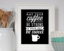 Citation de vente Art de la cuisine, cafée impression, Art Café, café drôle, cuisine, café, cuisine affiche, café, pendaison de crémaillère