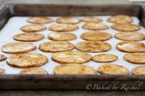 Baked Potato Chips  - Baked by Rachel