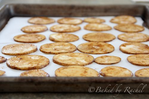 Baked Potato Chips  - Baked by Rachel