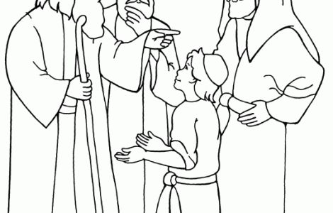Coloring Pages Jesus As A Boy