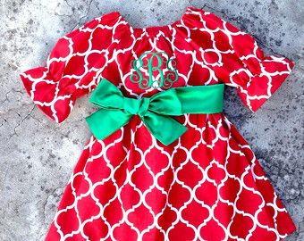 Baby girl christmas outfit baby girl clothes baby by SewChristi