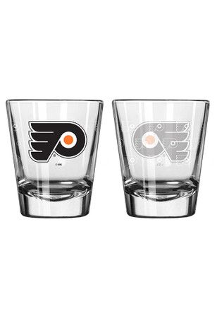 Philadelphia Flyers 2 oz Satin Etched Shot Glass