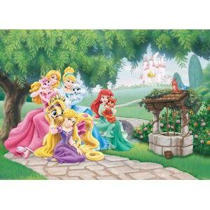 Hercegnők faltapéta (160 x 115 cm)
