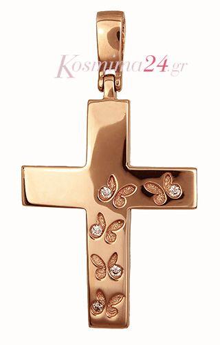 Ροζ Γυναικείος Σταυρός 015475