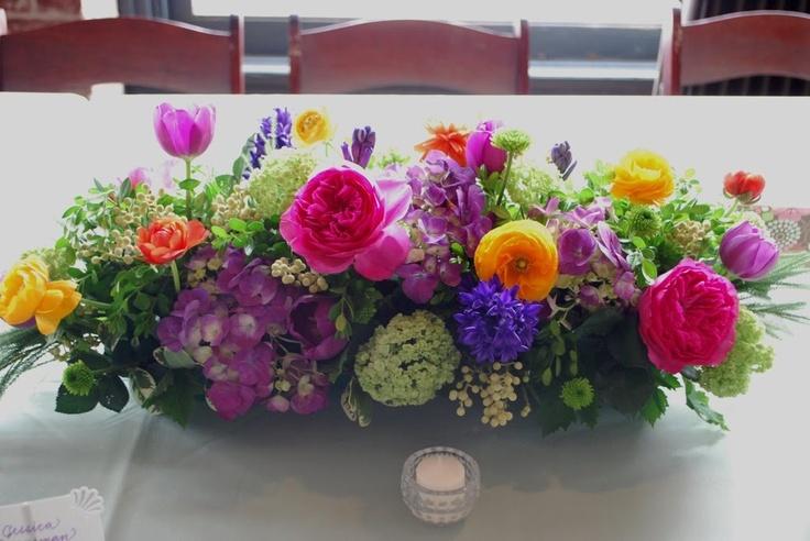 30 Best Long Low Floral Arrangements Images On Pinterest