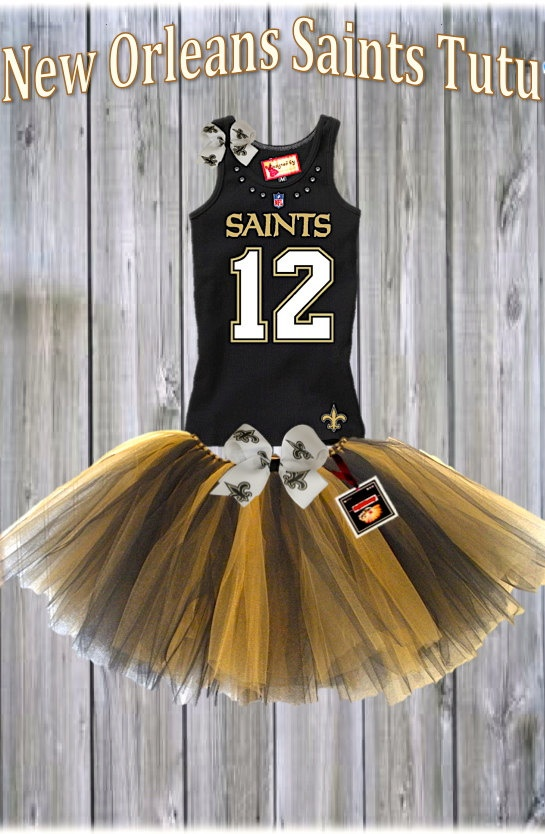 New Orleans Saints Tutu Set Choose Your NFL Team by LAYLASRUNWAY, $44.99