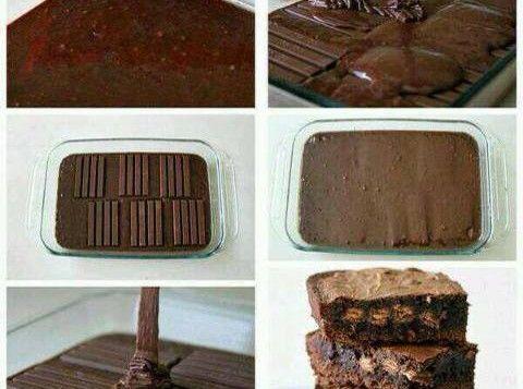 Come fare brownies ripieni di kit kat