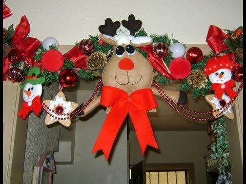 Reno de fieltro vídeo paso a paso http://ini.es/1uQwn4Z #Decoración, #DIY, #IdeasParaDecorar, #Manualidades, #Navidad, #Video