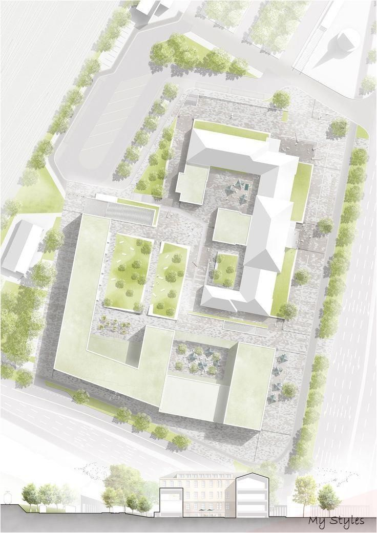Commercial Site Plans Commercial Plans Kommerzielle Lagepla Ne Plans De Sites Comm Urban Design Plan Urban Landscape Design Landscape Architecture Design
