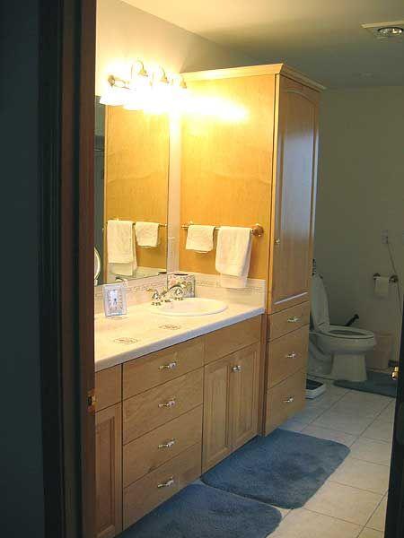 Wonderful Bathroom Cabinets Tacoma Intended Decorating Ideas