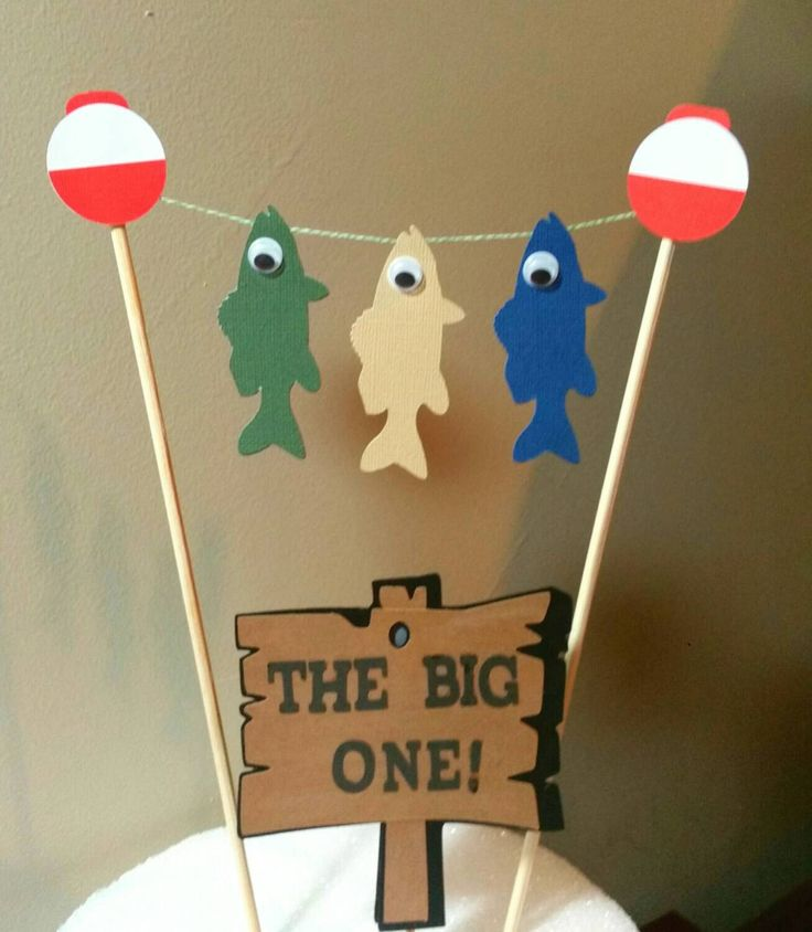 Fishing Cake Topper, Fishing Birthday, Birthday Cake Topper, Fishing Baby  Shower, Fishing Retirement Party, Fish Banner, Fishing Themed