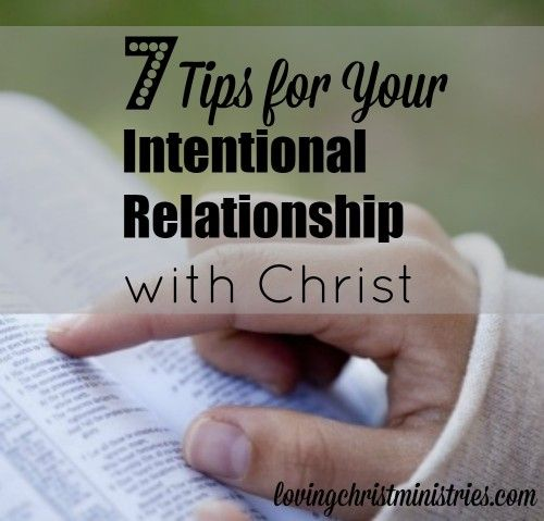 Intentional dating relationship