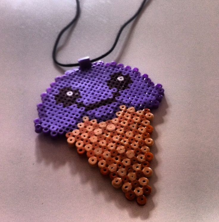 Sweet icecream necklace made of mini beads and made by my boyfriend <3
