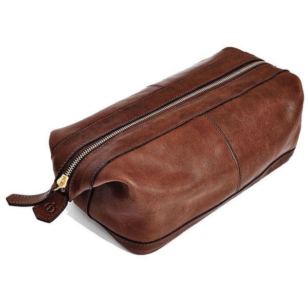 Libero Ferrero Espresso Horween Leather G.I. Dopp Kit | A luxurious take on the popular Dopp Kits that were issued to American G.I.s during the Second World War, this custom-tanned Horween® Leather shave kit is lined with antimicrobial nylon that is as elegant as it is practical. #ShopifyPicks