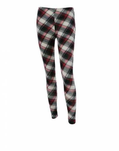 Leggings Ajustados De Cuadros Plaid Fitted Leggings  Caracteristicas Del Producto: - Style: Casual - Material: Polyester - Waist Type: High - Pattern