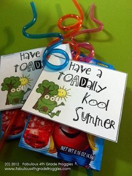 DIY Simple End of the Year Gift w/printable. Also could be party favor or gift to give at end of VBS.