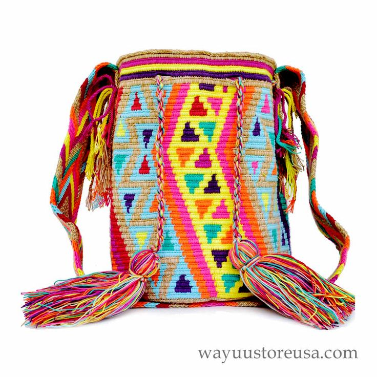 Wayuu Bag in New Colors and Design - Large - ON SALE $69 at www.wayuustoreusa.com