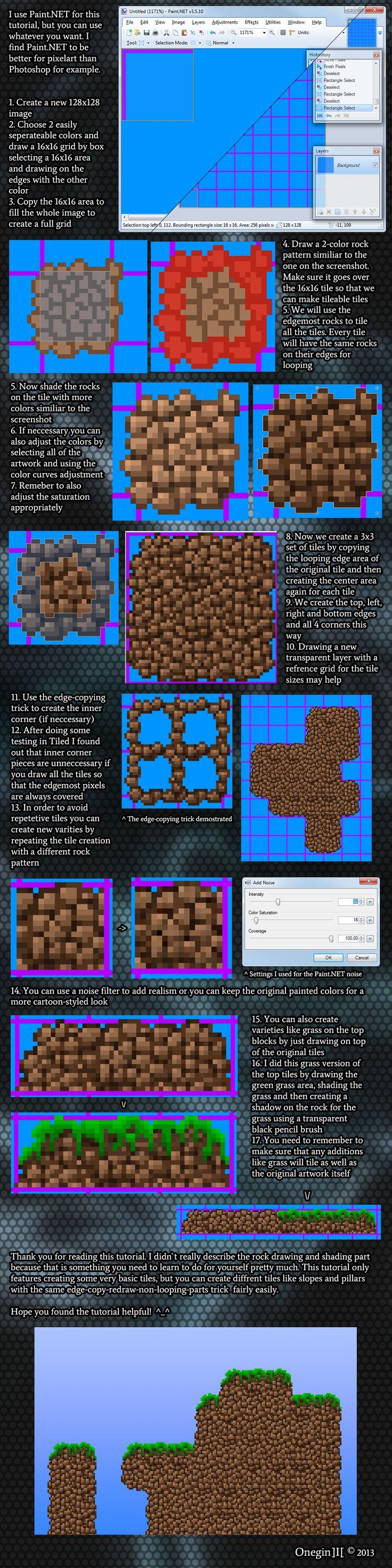 Game maker color blend - 16x16 Pixelart Rock Wall Tileset Tutorial By Oneginiii