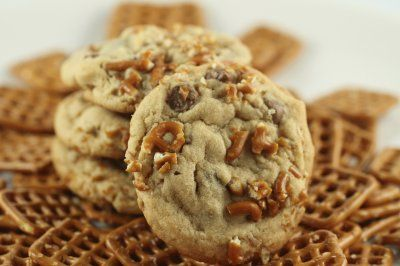 Peanut butter, Pretzel and Chocolate chip cookies