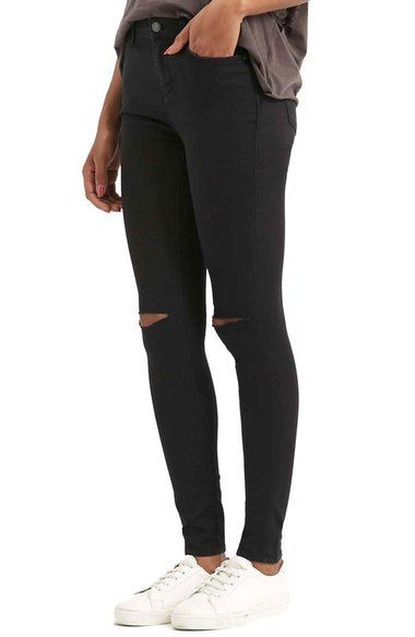 These are so comfy! My new fall go to denim and they're on sale for Labor Day Weekend! Topshop Moto 'Leigh' Ripped Skinny Jeans available at Nordstrom