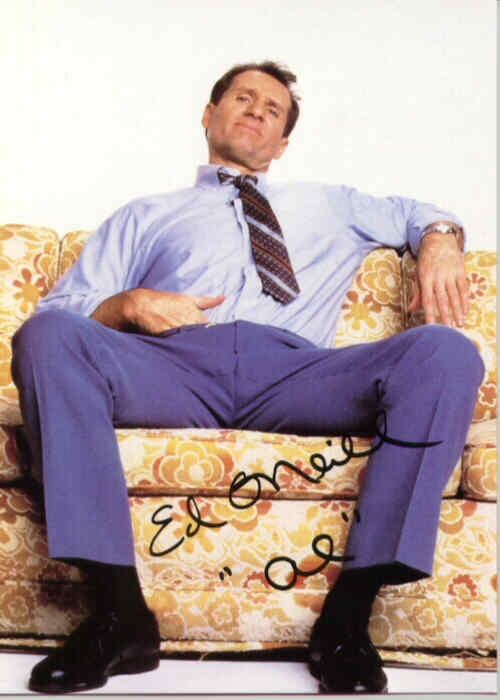 Al Bundy - Married with Children. My son Rigo would not go to sleep until he saw Married with Children every school night and it showed at 10:30 p.m. and he was in elementary school!