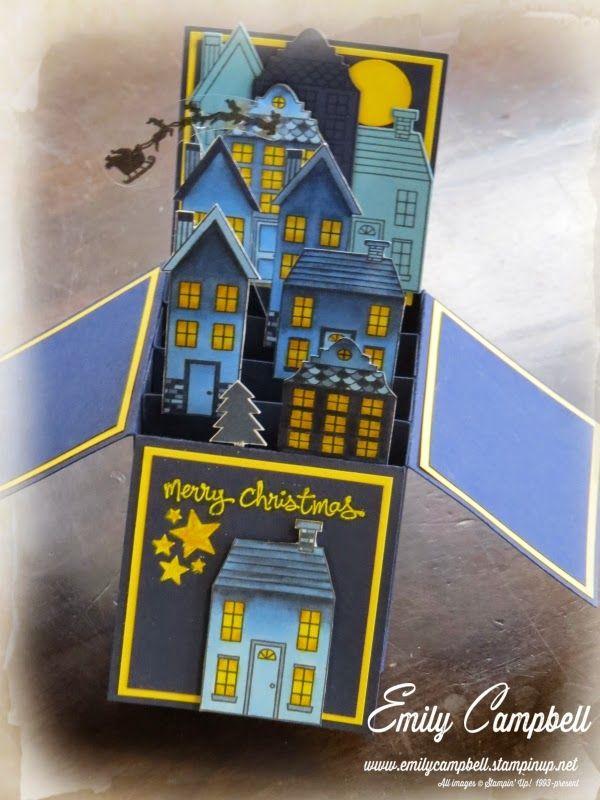 Tiny Kiwi Cards: Holiday Home Card-in-a-box #holidayhome #2014HolidayCatalog
