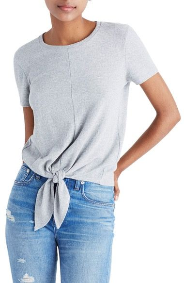 MADEWELL Modern Tie Front Tee. #madewell #cloth #