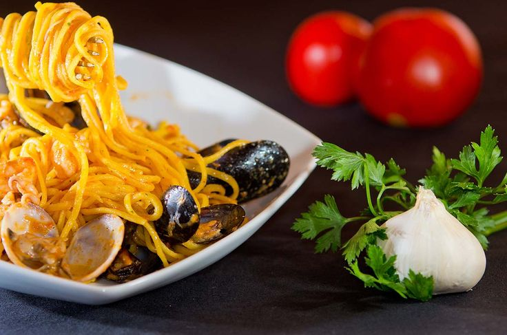 spaghetti with seafood from Bastian gastronomy - Marostica