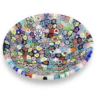 A prime example of Millefiori (a thousand flowers) - A technique mastered by the Master glass blowers of Murano.