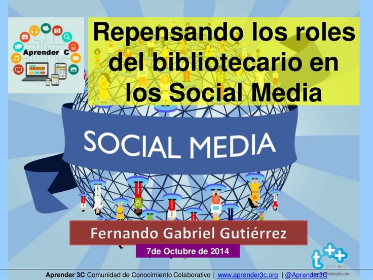 #Aprender3C - Repensando as funcións do bibliotecario nos Social Media, by Aprender 3C via slideshare